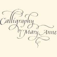 Calligraphy by Mary Anne in NY
