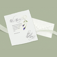 The Delicate Pen by Jane Lebanz in NY wedding caligraphy