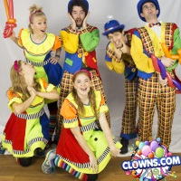 Professional party clowns in New York